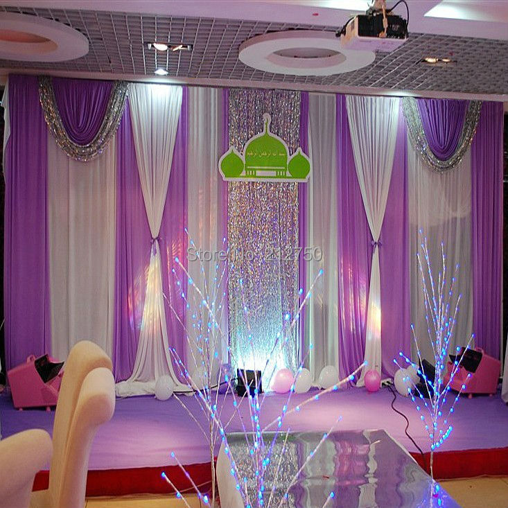 Elegant Wedding Backdrops: Express-free-shipping-2015-newly-arrival-elegant-purple