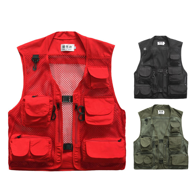Quick Dry Outdoor Photography Vest Summer Mens Multi-pocket Mesh Fish Fishing Vest Casual Waistcoat Military Coat Jacket <br><br>Aliexpress
