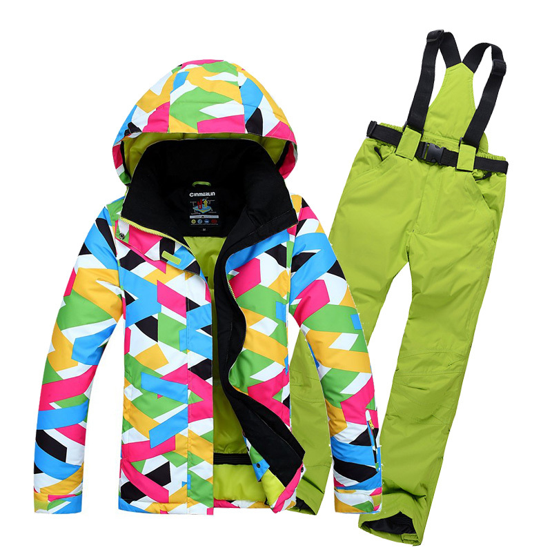 Outdoor Fashion Female Waterproof Windproof Ski Jacket Women Winter For Skiing Camping womens ski suit snowboard jacket and coat(China (Mainland))
