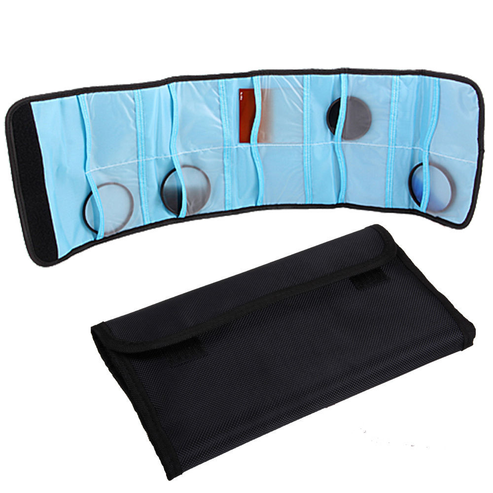 10PCS 10 Pockets Filter Wallet Case Pouch Bag for Universal Filters Max up to 86mm UV CPL MC-UC ND2 ND4 ND8(China (Mainland))