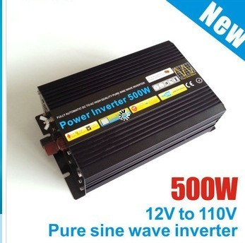 DHL FedEx UPS Free Shipping 1000W Peak Dc 24v to ac 220v 500W inverter pure sine wave inverter/ DC to AC Off-grid inverter 500W(China (Mainland))