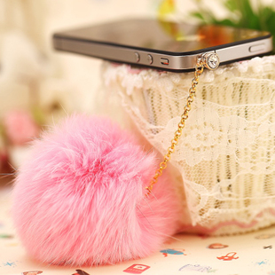 New Universal Dachshund Earphone Jack Plug Rabbit Fur Dust Plug Fashion Mobile Phone 3.5mm Earphones Hole Cell Accessories(China (Mainland))