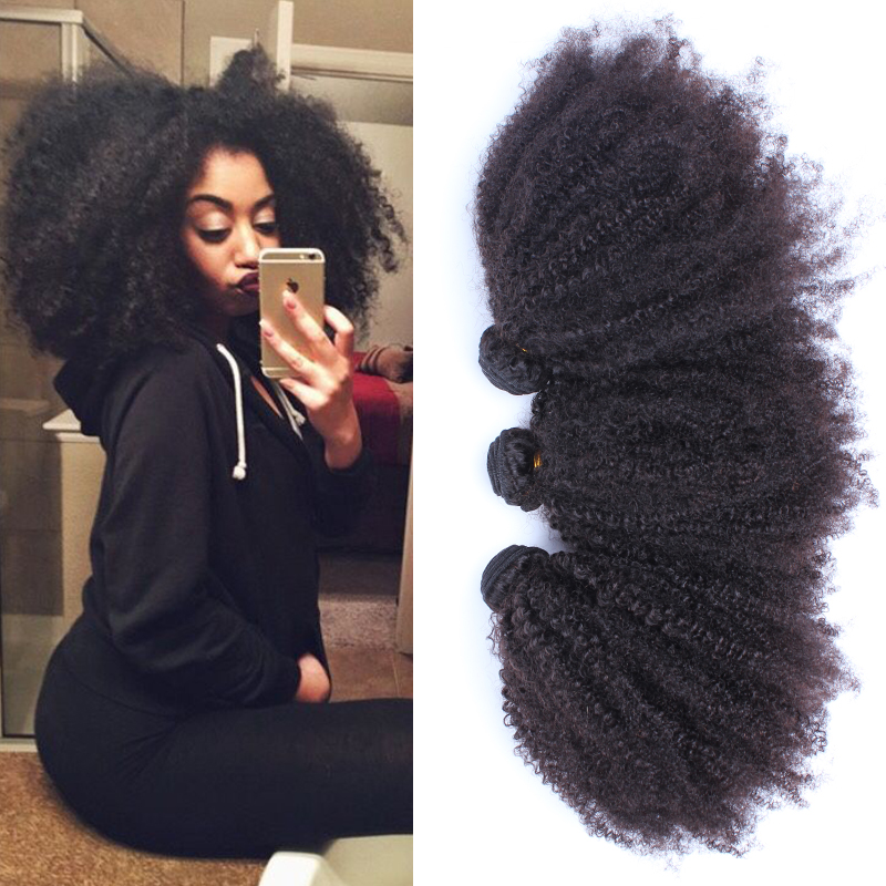6A Indian Afro Kinky Curly Virgin Hair Extensions 3 Pcs Lot Rosa Queen Hair Products Kinky Curly Virgin Human Hair Weave