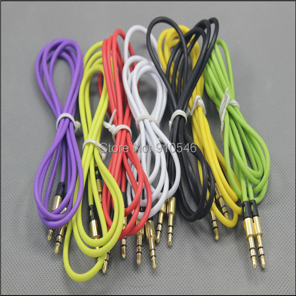 3.5 mm Jack Male to Male Audio Stereo Aux Extension Cable Cord For iPhone iPod free shipping 200pcs/lot