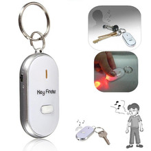 White LED Key Finder Locator Find Lost Keys Chain Keychain Whistle Sound Control(China (Mainland))