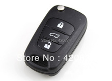 5pcs/lot 3 Buttons Car Flip Folding Remote Key Shell Blank Case Cover for Hyundai I30