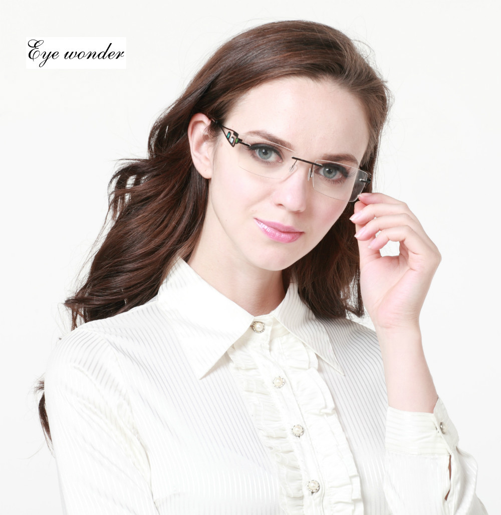 Frameless Glasses For Oval Face : Eyeglasses, Lady and Oval faces on Pinterest