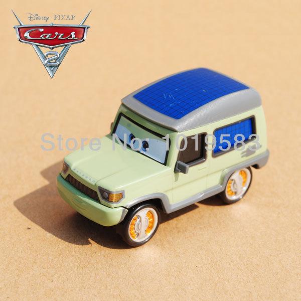(10pcs/pack) Wholesale 1/55 Scale Original Pixar Cars 2 Toys Miles Axelrod Diecast Metal Car Toy For Children Loose<br><br>Aliexpress