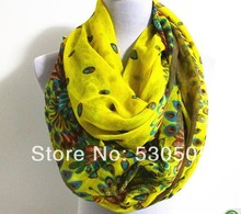 Yellow Aztec Pattern infinity Scarf Black Floral Scarf Rain Drops Scarf