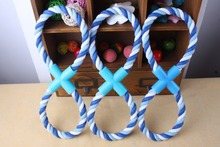 New Dog Pet toy 1pcs 28*2CM Puppy Chew Cotton 8 Rope Braided Bone Knot Toys products for dogs Playing Free shipping PE13