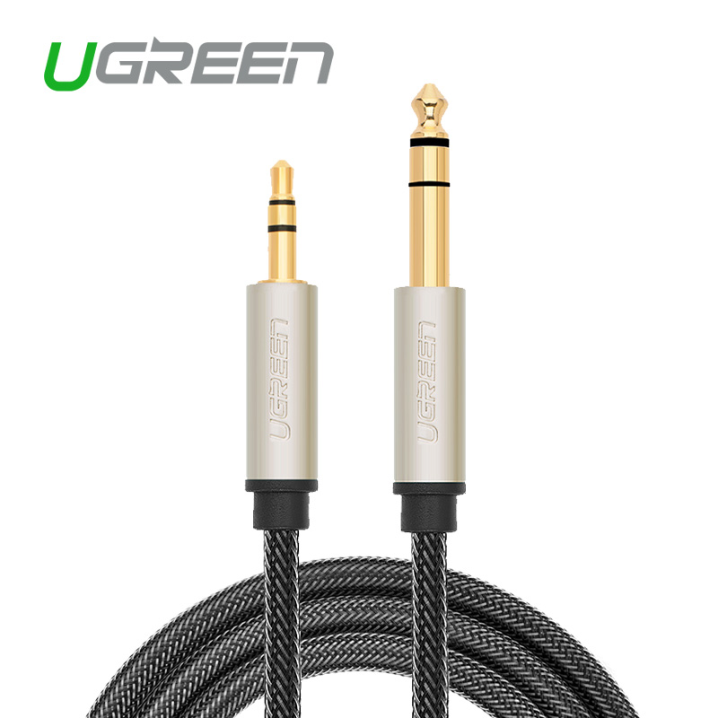 Ugreen 3.5mm to 6.35mm Adapter Jack Audio Cable for Mixer Amplifier Male to Male 2m 3m 5m 10m Aux Braid Cabo(China (Mainland))
