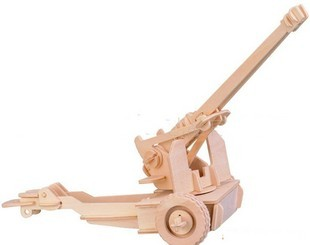 Scale Cannon Model Assembling Toys Wooden 3D(China (Mainland))