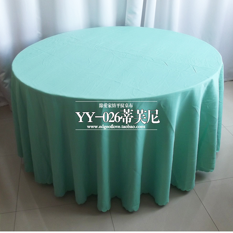 Tiffany wedding table cloth,polyester table cover,for wedding,hotel and restaurant round tables decoration,200GSM fabric(China (Mainland))