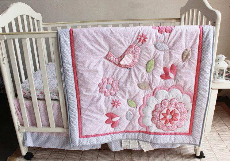 7pcs Animals girl Cot Crib Bedding Sets Baby Kit set ...