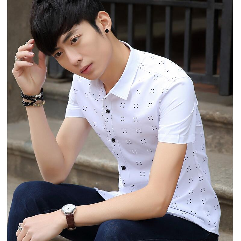 2016 Summer Style Men Dress Shirt Slim Fit Man Men Fashion Personality Mens Designer Shirts