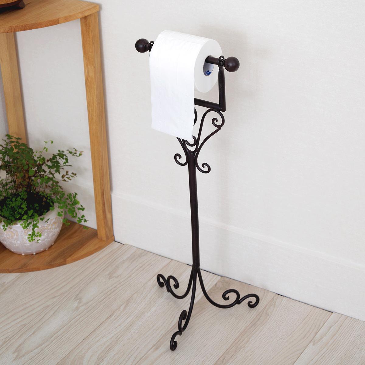 New Crafted ferro FREE STANDING suporte de toalha de papel de papel de  #445F1C 1200x1200 Acessorios Banheiro China