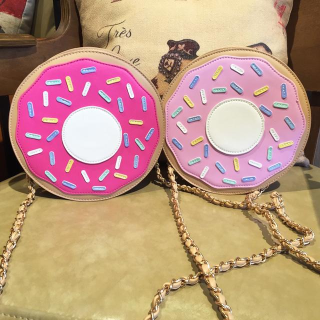 Уникальный дизайн прекрасный персонализированные мода новое мини-моды пончики цепь сумка дамы клатч через тело сумка