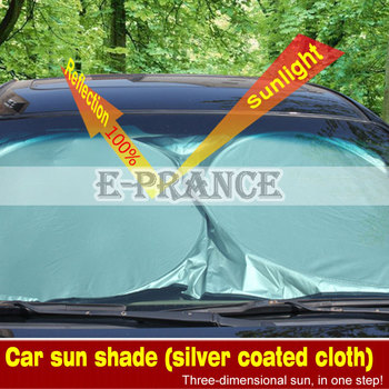 6PCS/SET Folding Silvering Reflective Car Window Sun Shade Visor Shield Cover Screen Window Foils Solar Protection SZ10C