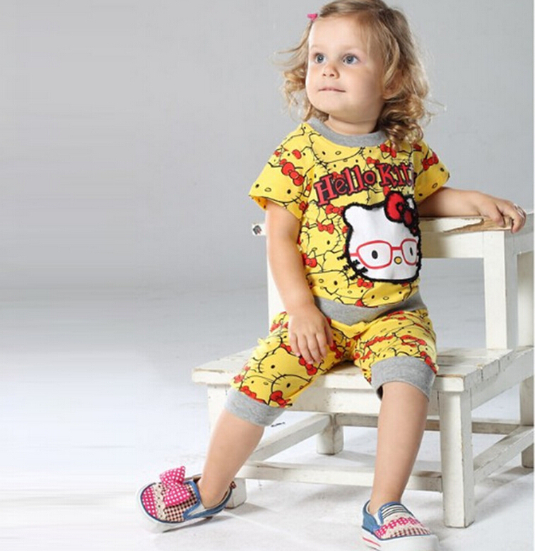 Baby Girls Summer Clothes 2015 New Arrival Cotton Short ...