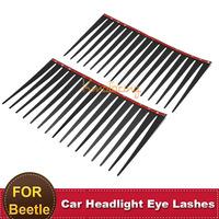 2pcs Car Auto Eye Lash 3D Funny Eyelashes Charming False Black Decal Decoration for VW Beetle Headlight Sticker