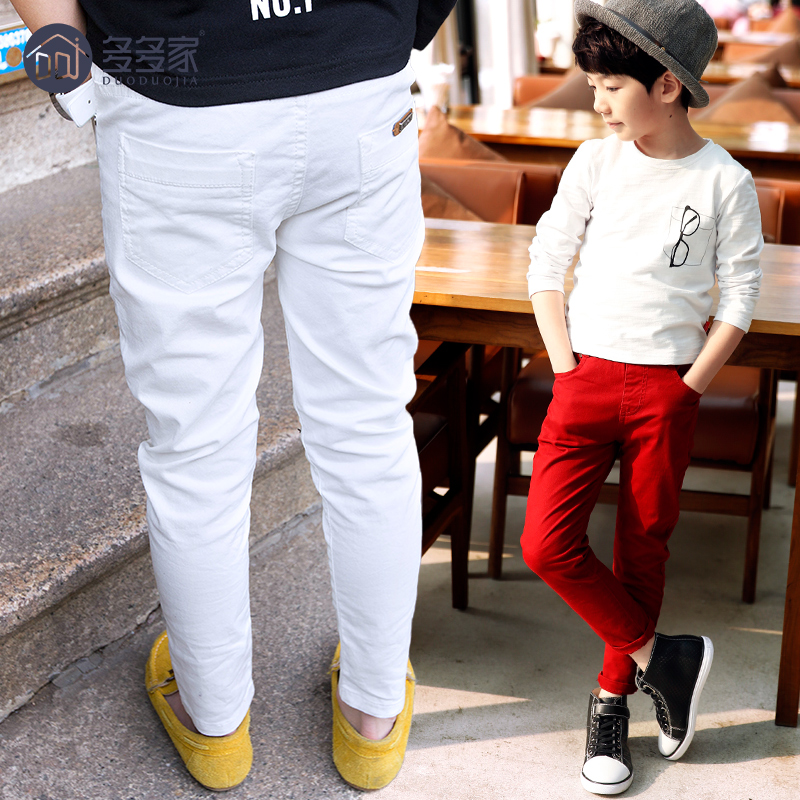 2016 new childrens clothing boy pants spring models large children solid color casual trousers Korean wave<br><br>Aliexpress