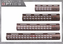 Vector Optics KeyMod Rifle 7 10 12 15 inch 4/15 Slim Free Floating One Piece Handguard Picatinny Rail Mount Weapon Accessories(China (Mainland))