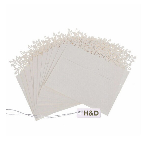 50pcs Hollow Out Wedding Party Table Wine Food Guest Name Place Cards Favor Decoration(China (Mainland))