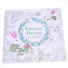 24 Pages Fantasy Dream English Edition Coloring Book For Children Adult Relieve Stress Kill Time Painting Drawing Book(China (Mainland))