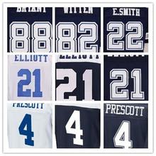SexeMara Men's best quality 4 Dak 22 Smith 82 Witten 88 Dez Jerseys,Blue,White(China (Mainland))