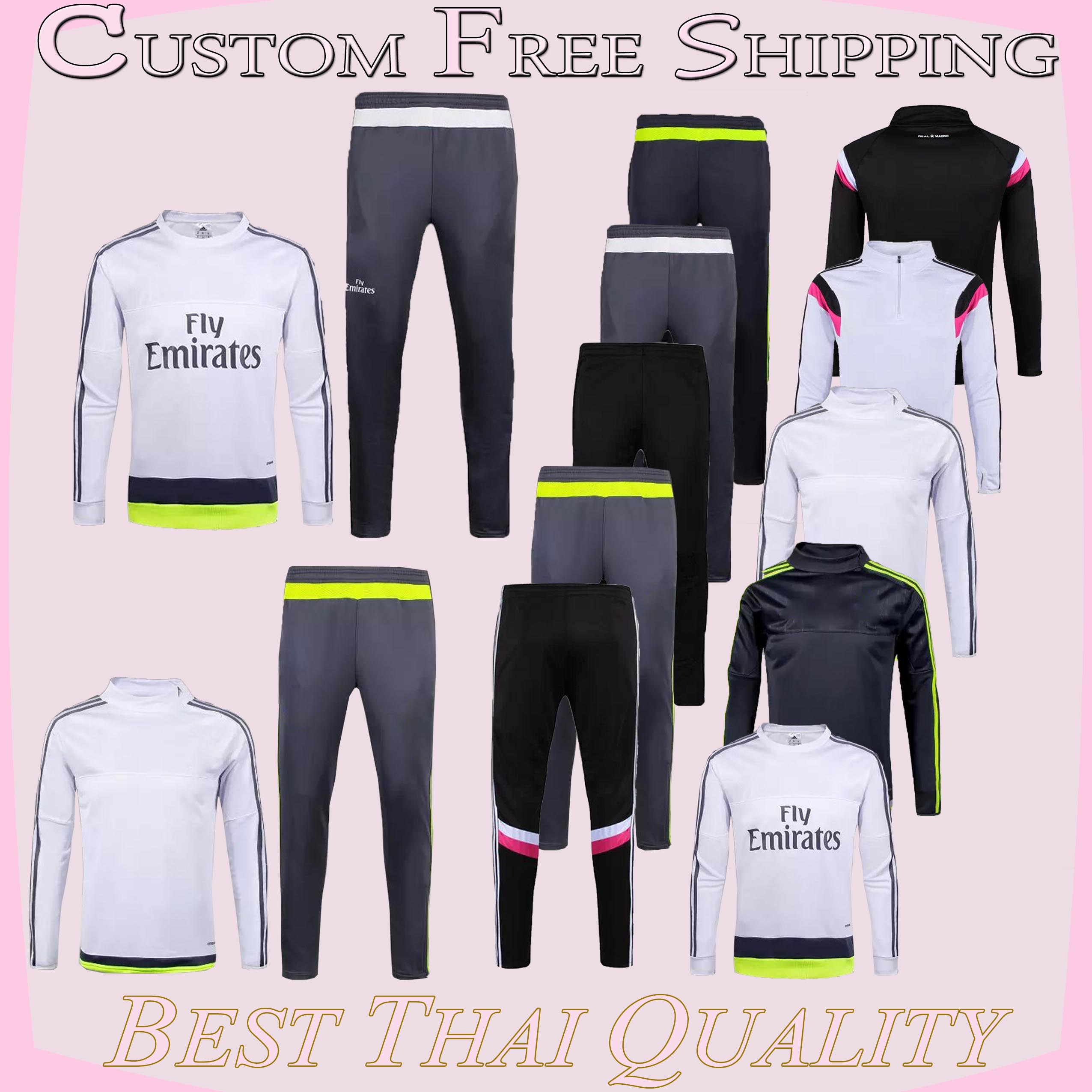 HOT 2015/2016 survetement City football training suit soccer trainings kits AC MILAN soccer tracksuits Man chandal jerseys(China (Mainland))