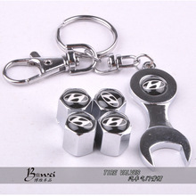 New Hot Sale Car Wheel Tire Valve Caps with Mini Wrench & Keychain for Hyundai (4-Piece/Pack)(China (Mainland))