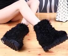 Sheepskin Shoes Woman Designer Women Boots Warm Snow Boots Solid Zapatos Mujer Nubuck Leather Bota Feminina Round Toe Sapatos(China (Mainland))