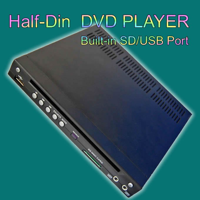Car Half DIN In-Dash USB/SD Slot --Best-selling products CAR DVD(China (Mainland))