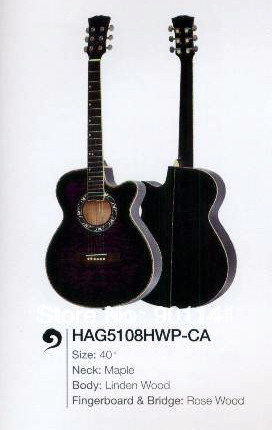 "String Music Instrument, Acoustic Guitar, 40"", Maple, Linden Wood, Rose WoodHAG5108HWP-CA(China (Mainland))"