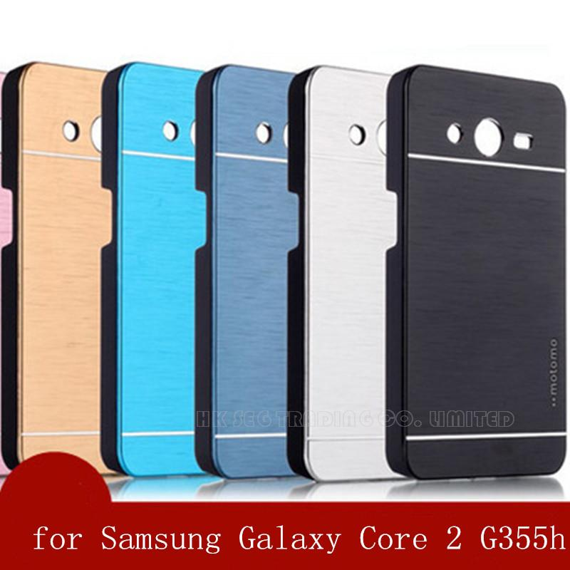 Aluminum Luxury Metal Case Back Cover for Samsung Galaxy Core 2 G355h Duos/Plus G355 H Aluminum Cover High quality(China (Mainland))