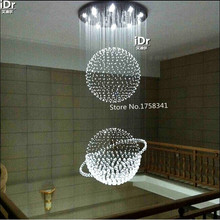 2016 New Modern brief spiral crystal chandelier  three ball lustre home crystal lighting  Upscale atmosphere (China (Mainland))