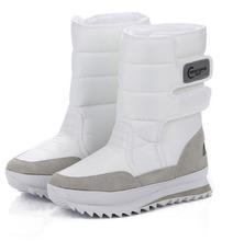 2016 regalos de Navidad de invierno mujeres mans botas botas zapatos de la nieve para Santa Claus nieve blanca color plus tamaño EE.UU. hot ZYMY-xz-29(China (Mainland))