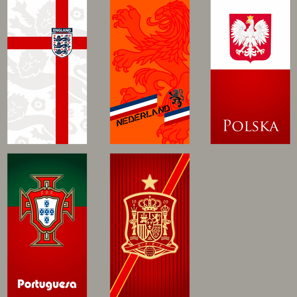 England Holland Poland Portugal Spain National team towels sports towel compact beach towel soccer football fans towel(China (Mainland))