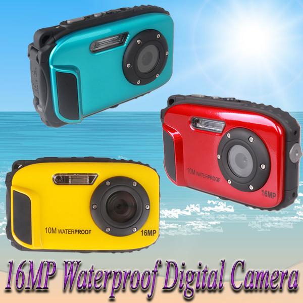 2013 New 16MP Digital Camera 10m waterproof 2.7'' TFT LCD 8x Digital Zoom for Underwater Photography#CG003&CG004&CG012