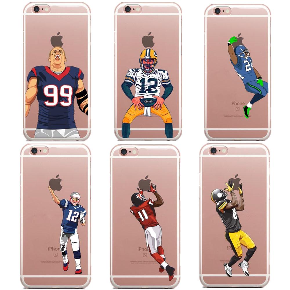 Football Odell beckham jr Watt Gronk Carolina Panthers Cam Newton Superman Dab Dance For iphone SE 5 5S 6 6S Plus 7 7Plus Cases(China (Mainland))