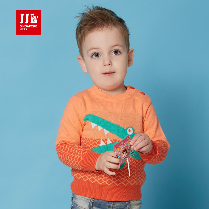 boy sweater baby sweater crocodile pattern single breasted design 100% cotton brand baby boy clothes JJLKIDS 2016 new autumn<br><br>Aliexpress