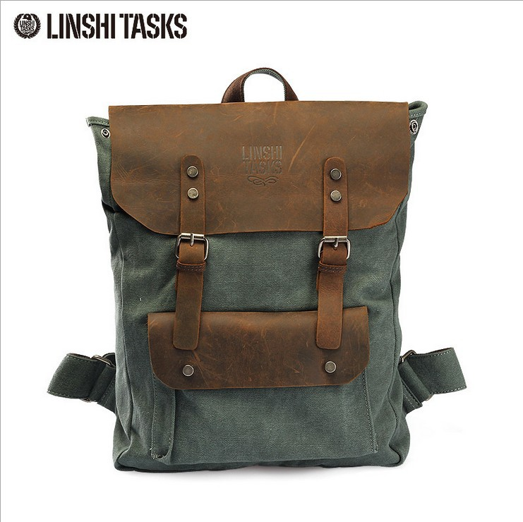 Brand backpack women and man European preppy style canvas bag woman shool bags men vintage travel Outdoor bag freeshipping(China (Mainland))