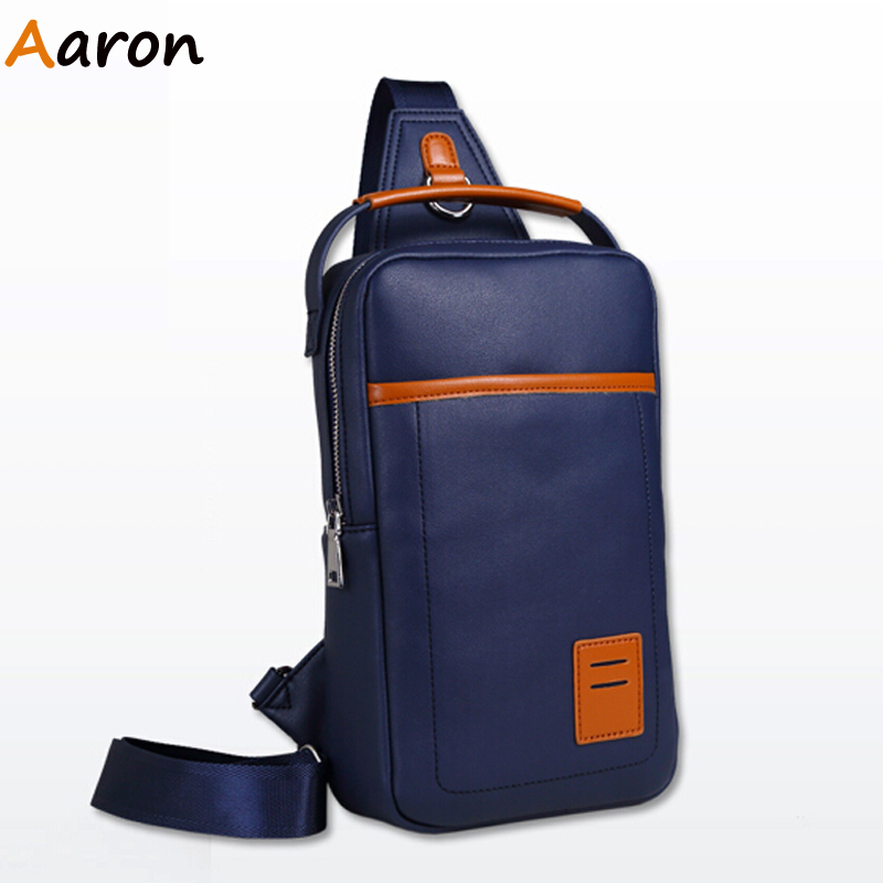 Aaron - New 2015 Fashion Leather Men Messenger Bag Casual Motorcycle Chest Back Pack Bag Travel Sports Tactical Cross Body Bag<br><br>Aliexpress