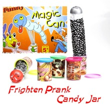 Funny Shocker Joke Toys Trick Frighten Candy Jar Jump Out With Voice Strange Jar Party Play Special Sweet Jokes Fool's day Gift(China (Mainland))