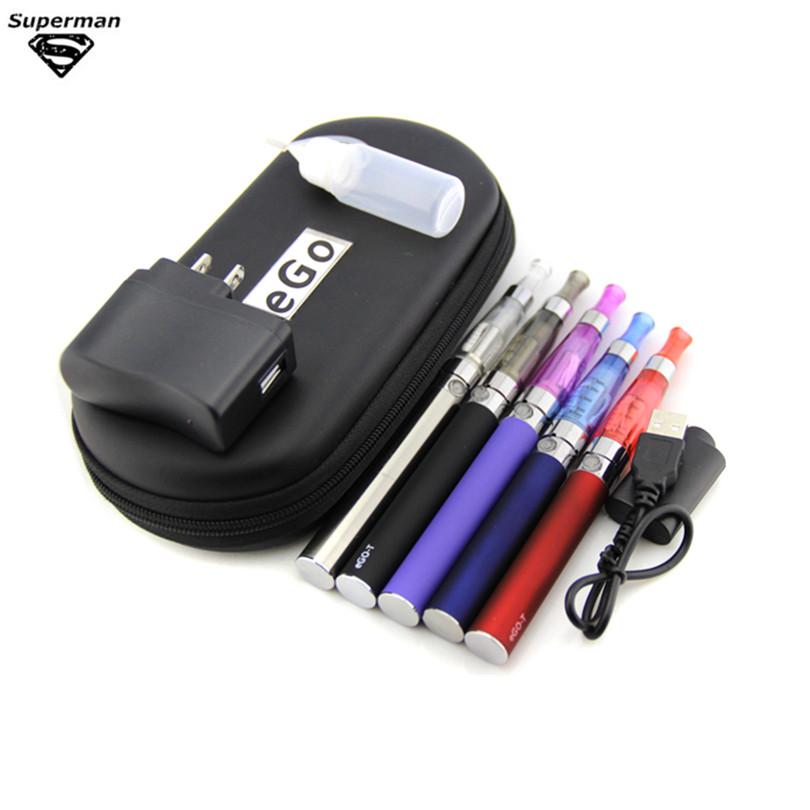 Electronic Cigarette eGo CE4 Double Starter Kit Ego ce5 ce4 Zipper Case 650mAh~1100mAh 2 eGo-T vaporizer 2 CE4 atomizer Kit(China (Mainland))