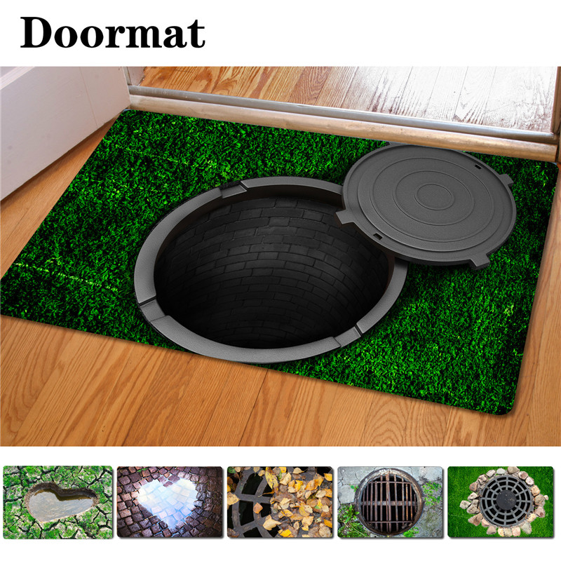 40*60cm 3D Mat Entrance Doormats Trap Printed Carpet Area Rug For Living Room Room Bedroom Non-slip Floor Mats Kitchen Rugs(China (Mainland))