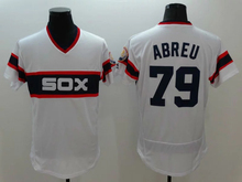 #1 Adam Eaton 8 Bo Jackson 14 Paul Konerko 35 Thomas 79 Jose Abreu jersey new color white size M-XXXL(China (Mainland))