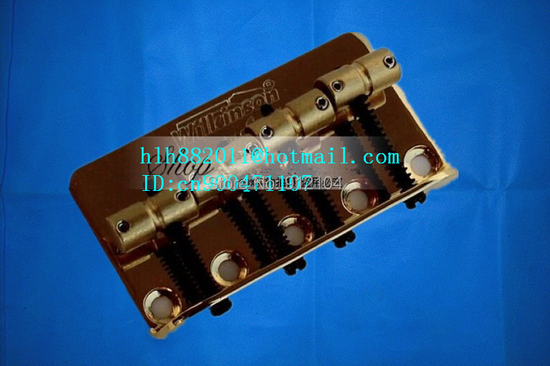 free shipping new wilkinson 4 strings electric bass guitar bridge in gold L18-1(China (Mainland))