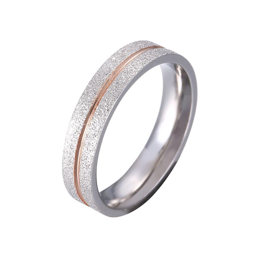 Simple Silver Wedding Rings For Women New Fashion Silver Qua...