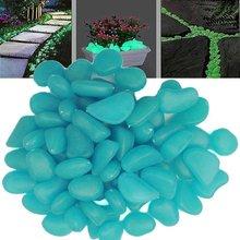 100 stück 10 Farben leuchtenden Kopfsteinpflaster kieselsteine steine glow in the dark für aquarium Garten brunnen dekorationen(China (Mainland))